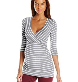 Grey Ivory Michelle Stripe  XS
