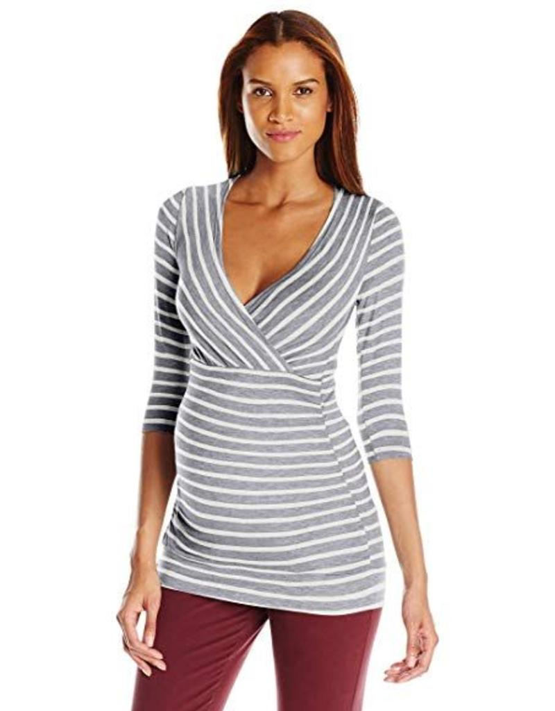 Grey Ivory Michelle Stripe  XS