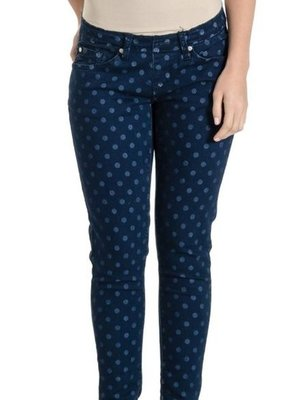 Polka Dot Colored Skinny Denim  Medium