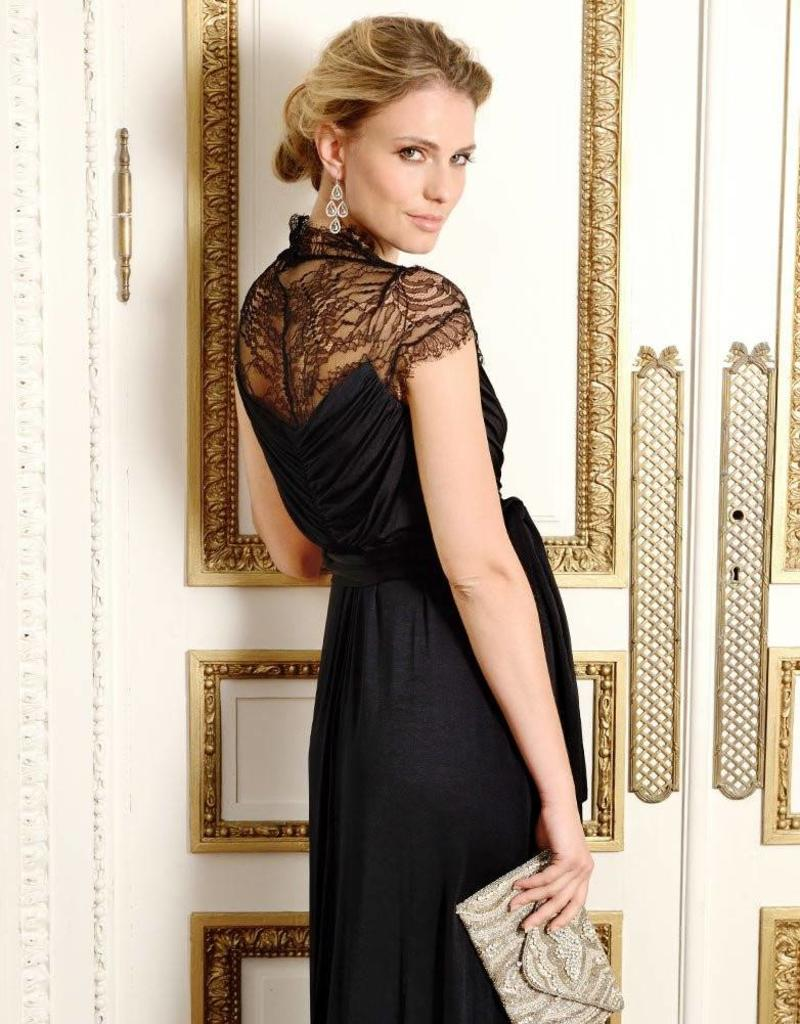 Black Chelsey Lace Gown  8