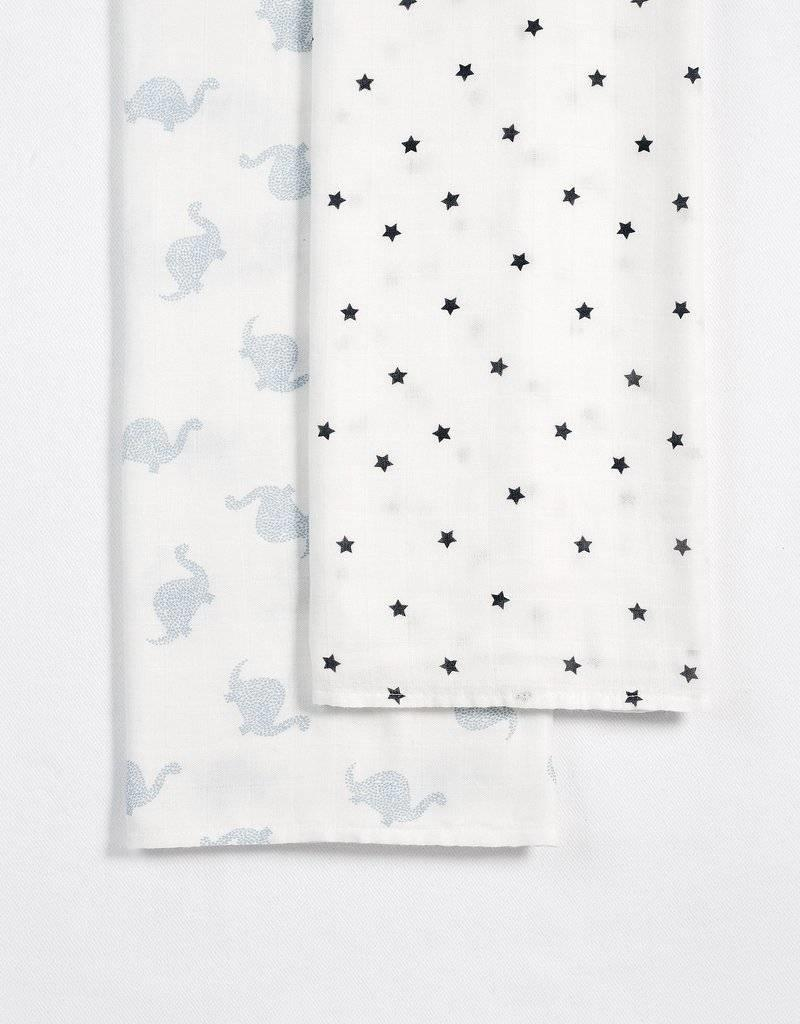 Petit lem light blue swaddle set
