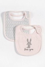 Petit lem light pink bib set