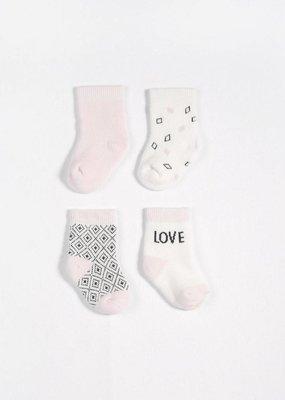 Petit lem light pink sock set