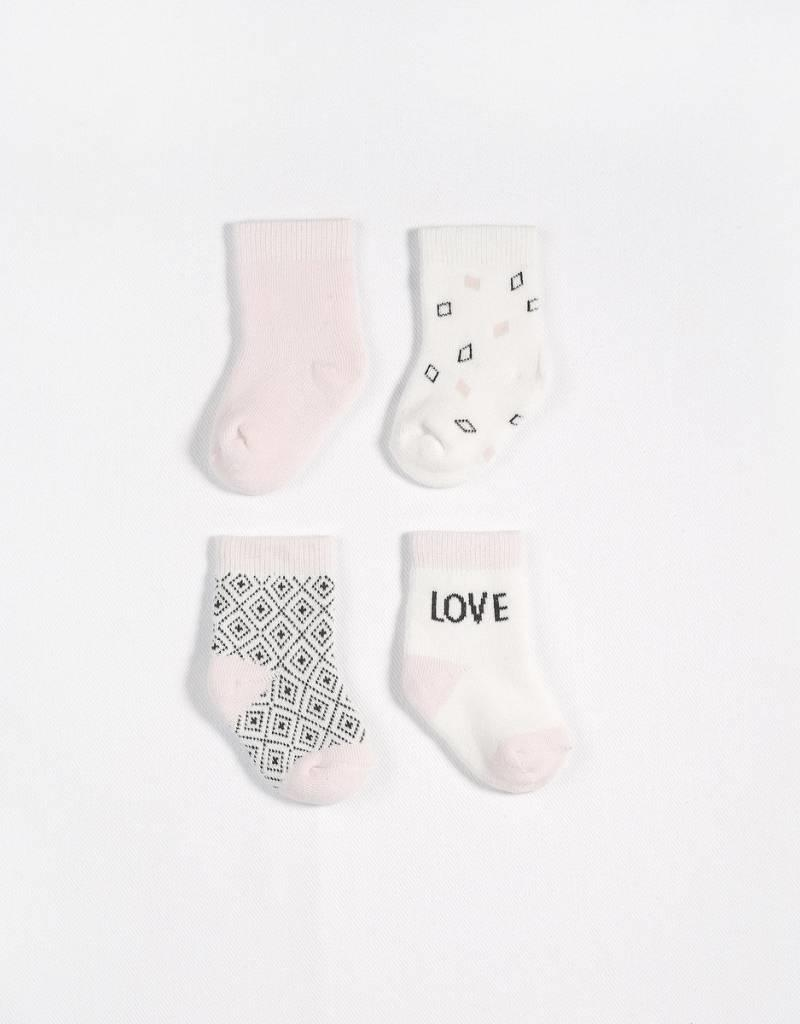 Petit lem light pink sock set