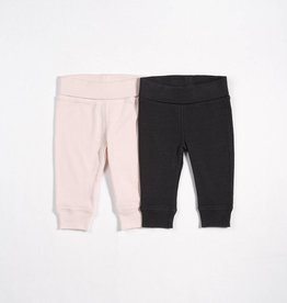 Petit lem light pink and grey legging set