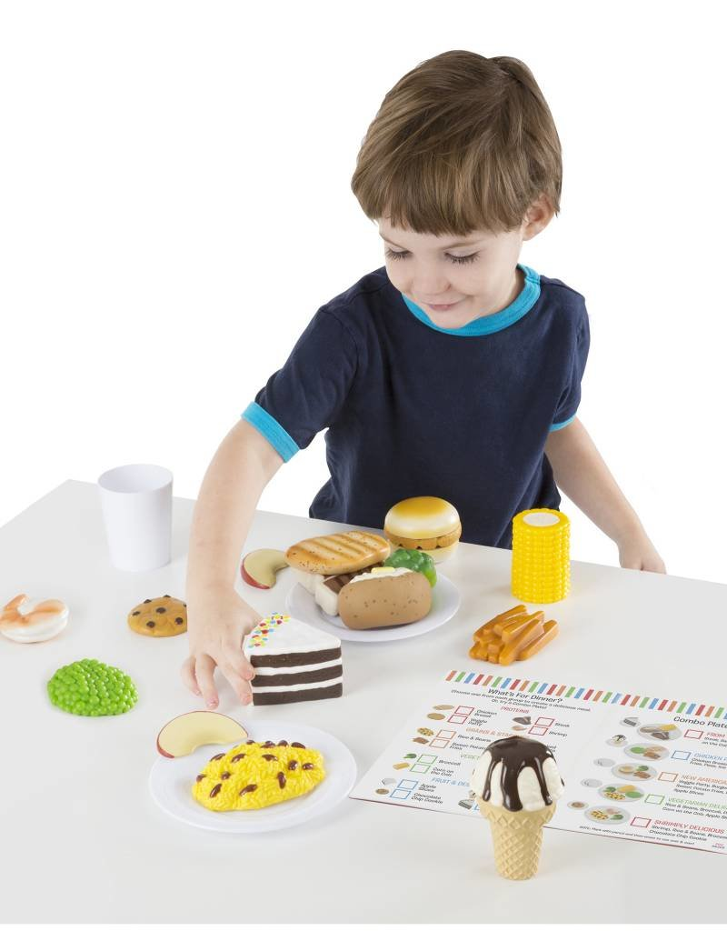 Melissa & Doug, LLC Food Fun Combine & Dine Dinners-Blue