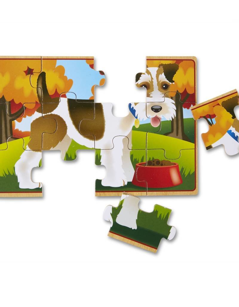 Melissa & Doug, LLC Jigsaw Puzzles 4 in Box Pets