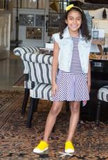 Deux Par Deux Black & White Striped Dress