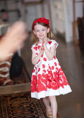 Mayoral USA Red Petal Print Dress
