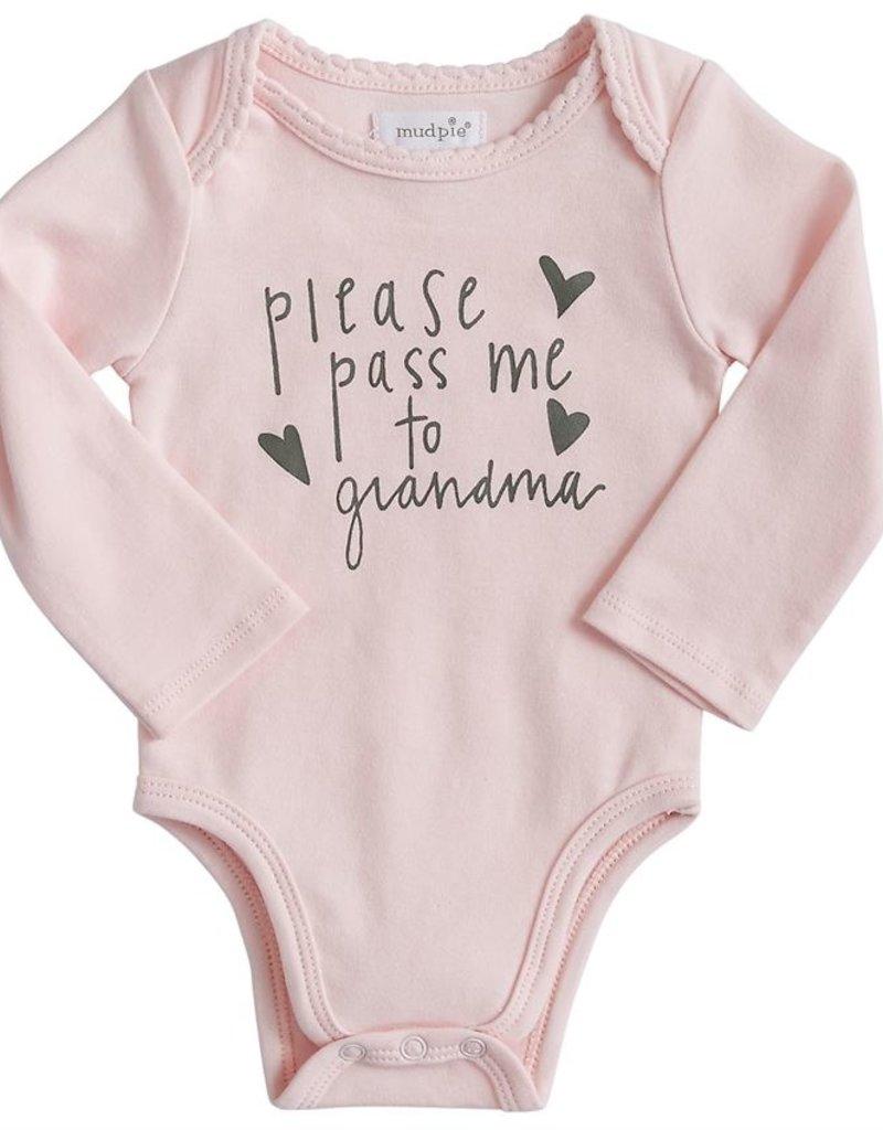 Pink Pass Me to Grandma Onesie 0-6m