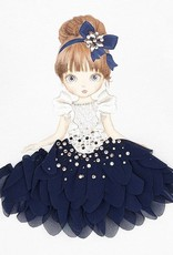 Mayoral USA navy skirt doll ls top