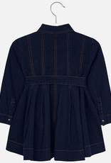 Mayoral USA dark denim belted dress