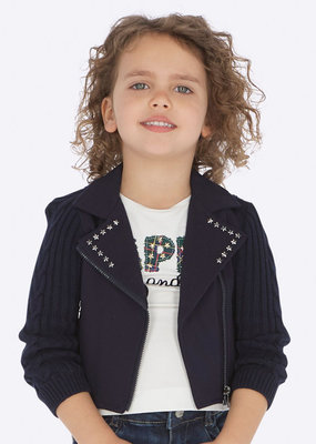 Mayoral USA navy star sweater jacket