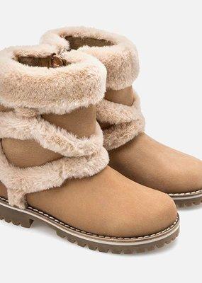 Mayoral USA criss cross fur boots