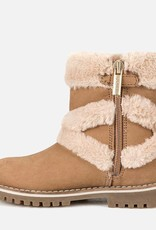 Mayoral USA criss cross fur boots