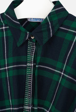 Mayoral USA green plaid twist waist blouse