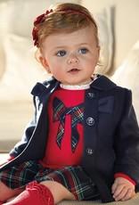 Mayoral USA navy bow coat