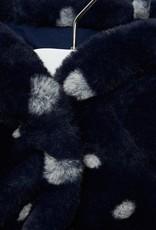 Mayoral USA navy white dot furry coat