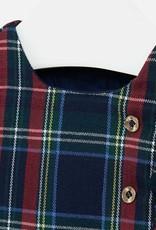 Mayoral USA tartan plaid side button dress