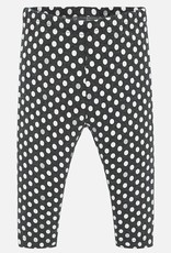 Mayoral USA charcoal grey with white dot leggings