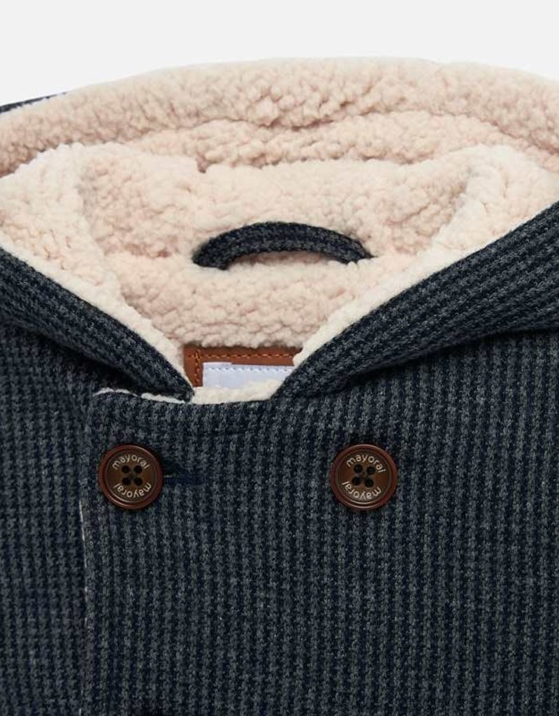 Mayoral USA herringbone sherpa lined jacket