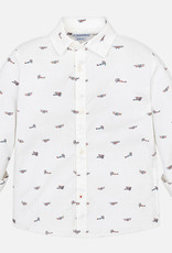 Mayoral USA bi wing plane white shirt
