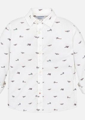 Mayoral USA bi wing plane white shirt