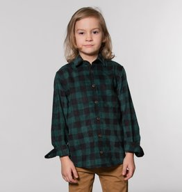 Deux Par Deux Green Plaid Corduroy Shirt