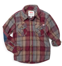 Appaman Plum Plaid Flannel Shirt