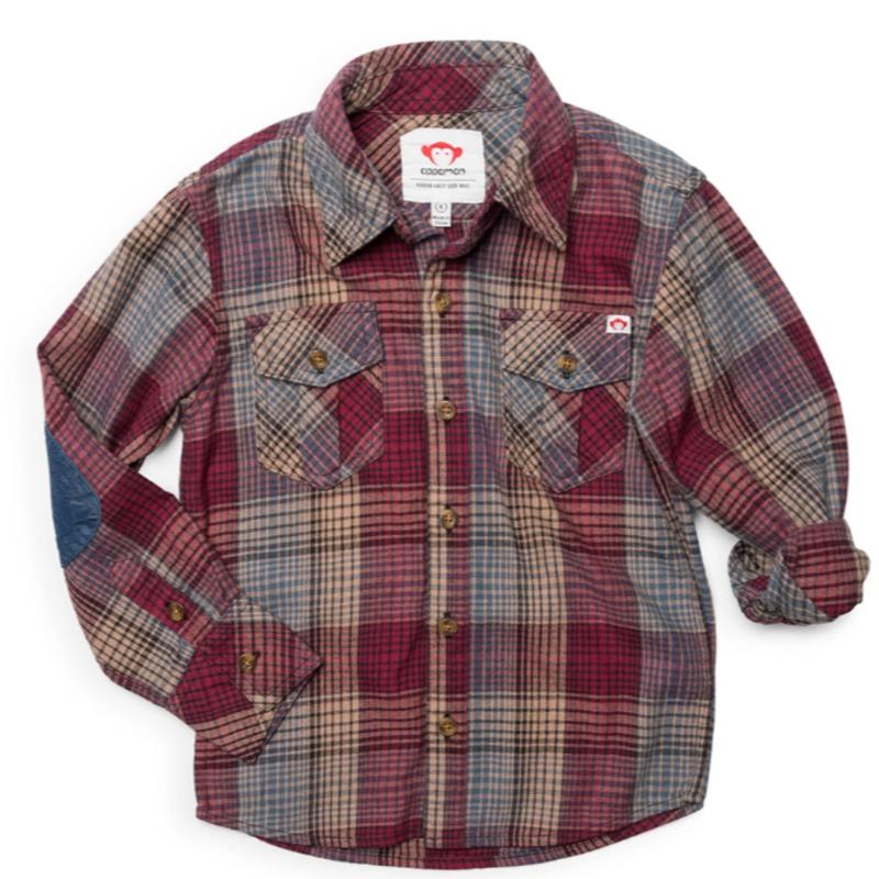 Appaman Plum Plaid Flannel Shirt
