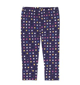 Deux Par Deux Navy Dot Leggings