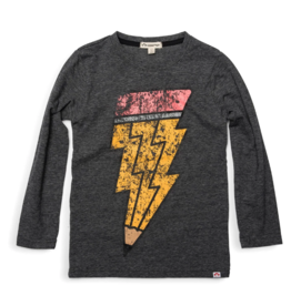 Appaman Charcoal Pencil Lightening Bolt Tee
