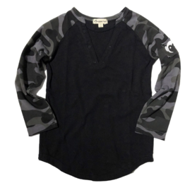 Appaman Dark Camo Baseball Tee