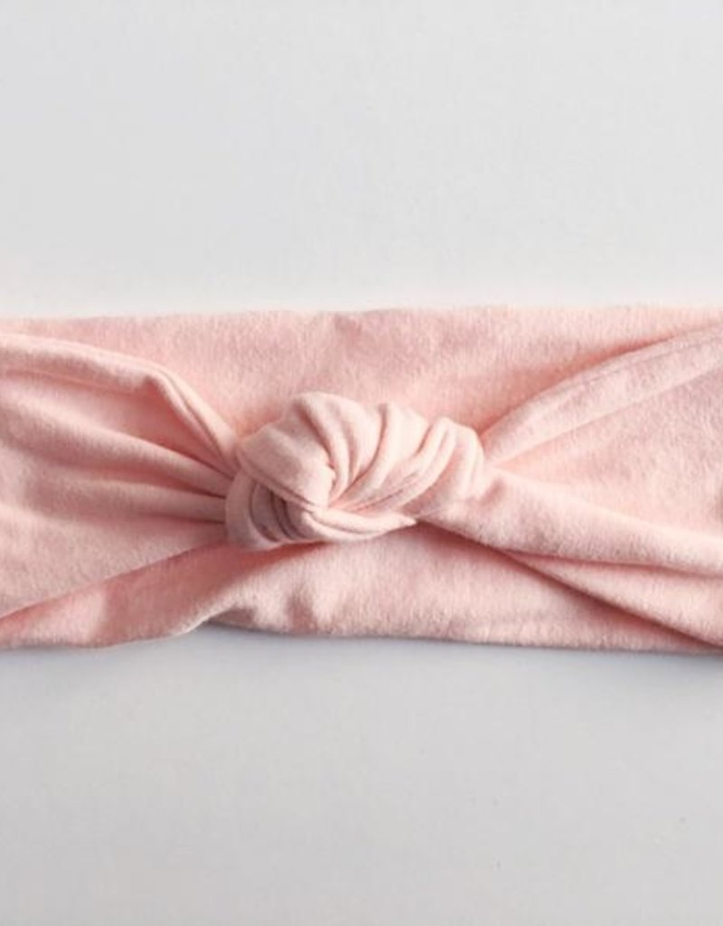 Macie & Me Light Pink Top Knot Headband