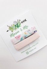 Macie & Me Floral and Blush Pink Bar clips