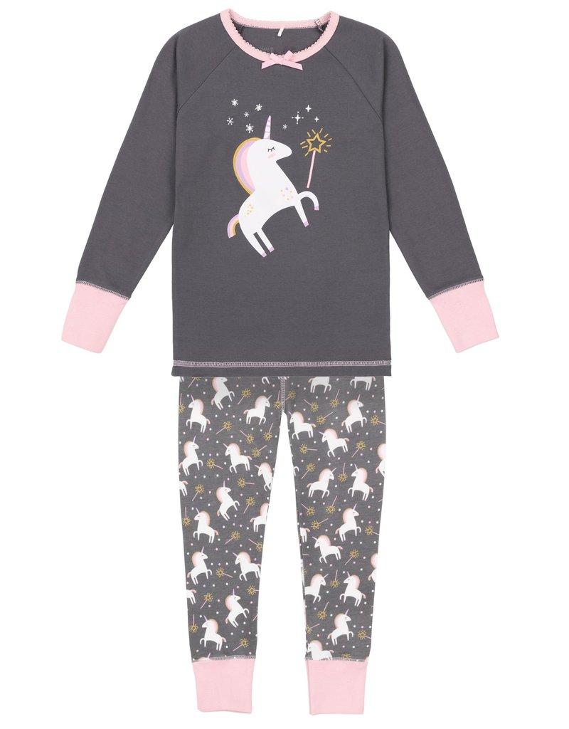 Deux Par Deux Smoked Pearl Unicorn Pajama Set