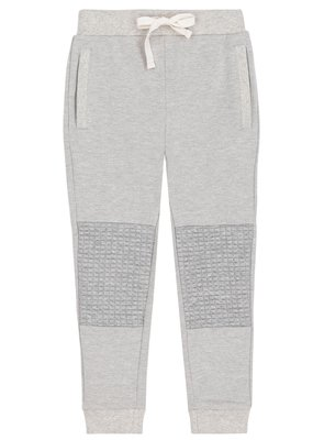 Deux Par Deux Quilted Knee Grey Mix Jogger