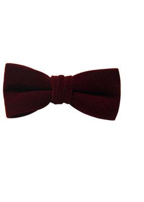 Fore! Burgundy Velvet Bow Tie