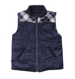 Fore! Herringbone/ Plaid Reversible Vest