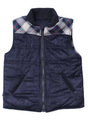Fore! Herringbone/ Plaid Reversible Vest