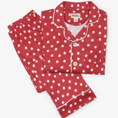 Hatley Red Snowball PJs