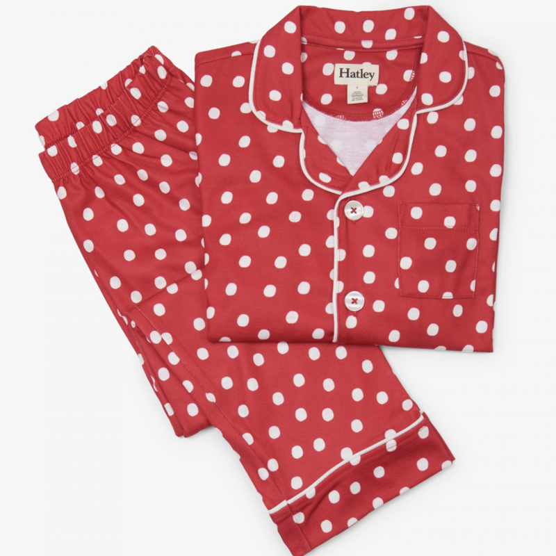 Hatley Red Snowball PJs