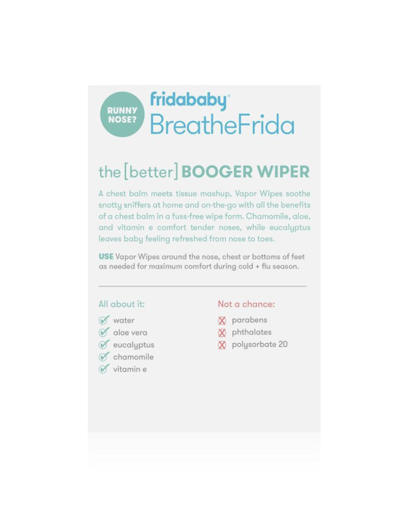 FridaBaby BreatheFriday Nose-Chest Wipes