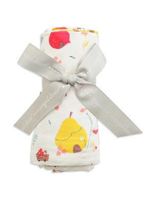 Angel Dear bold fruit swaddle blanket