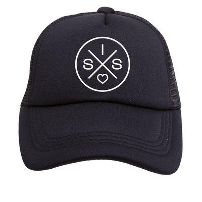 Tiny Trucker Co. Baby Sis Black Trucker Hat