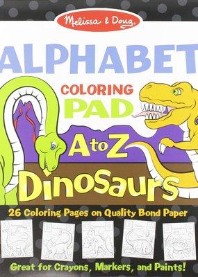 Melissa & Doug, LLC Dinosaurs Alphabet Coloring Pad A to Z