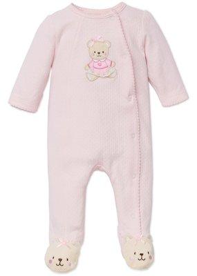 Little Me Pink Bear Footie Newborn