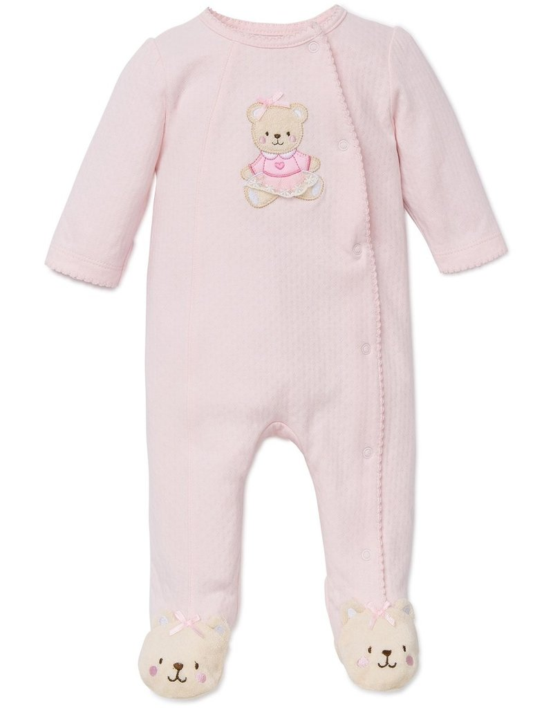Little Me Pink Bear Footie Newborn