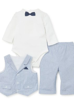 Little Me Club 3PC Vest Set
