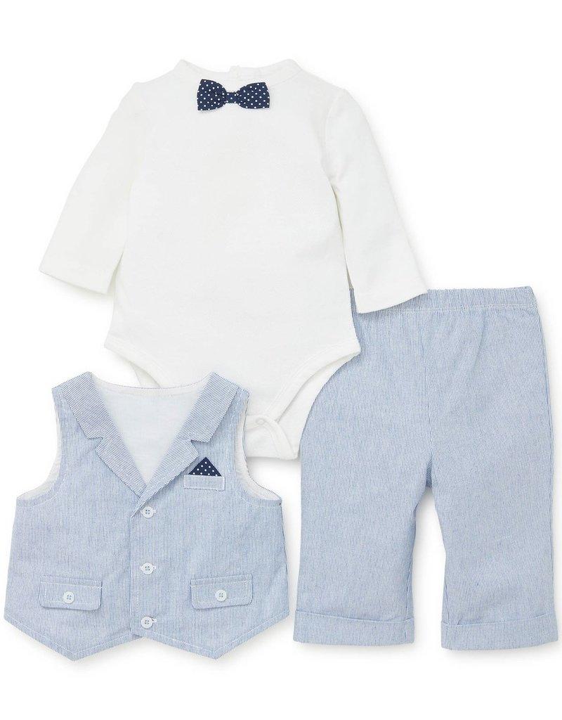 Little Me Club 3PC Vest Set